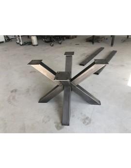 Tischgestell grau Metall Industriedesign, Tischgestell Industrie Metall, Breite 100 cm
