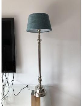 Tischlampe mit Lampenschirm, Tischleuchte Lampenschirm petrol, Durchmesser 25 cm