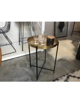 Beistelltisch rund schwarz-Bronze, Tisch rund