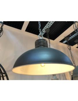 Pendelleuchte schwarz Metall Industriedesign, Hängeleuchte schwarz Industrie, Hängelampe schwarz Metall, Durchmesser 52 cm