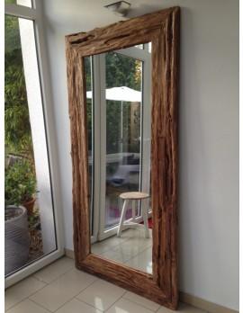 Spiegel Massivholz Teak, Wandspiegel Altholz, Maße 200 x 100 cm