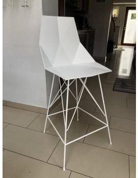 Barstuhl weiß,  Design Barstuhl weiß Kunststoff Metall, Barhocker weiß outdoor