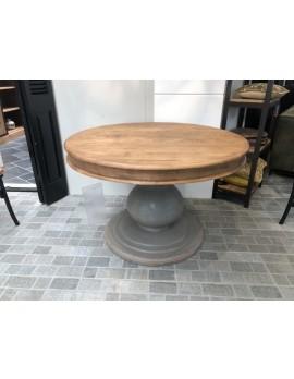 Tisch rund Landhausstil, runder Tisch, Esstisch rund Massivholz, Durchmesser 120 cm