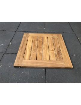 Tischplatte Teakholz, Garten-Tischplatte Teak, Maße 80x80 cm