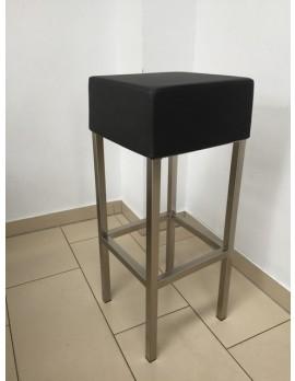 Barhocker schwarz gepolstert, Tresenhocker gepolstert schwarz, Sitzhöhe 80 cm