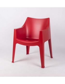 Gartensessel rot, Gartenstuhl rot  Kunststoff, Stuhl rot stapelbar