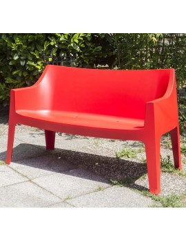 Gartenbank rot, Sofa Kunststoff rot, Outdoor- Bank rot