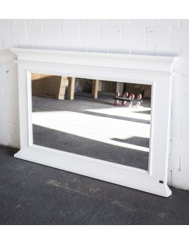 Spiegel weiß im Landhausstil, Massivholz, Maße 150 x 95 cm