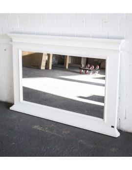 Spiegel weiß im Landhausstil, Wandspiegel weiß Massivholz, Maße 150 x 95 cm