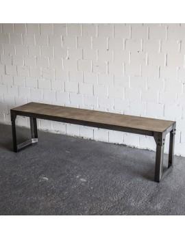 Bank Metall, Sitzbank im Industriedesign, Länge 160 cm