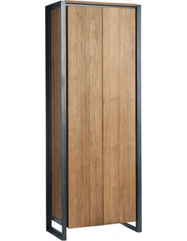 Schrank Altholz, Schrank Industriedesign, Kleiderschrank, Geschirrschrank, Teakholz, Breite 75 cm