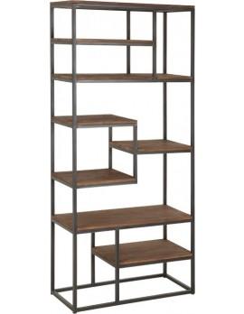 Bücherschrank Altholz, Bücherschrank Industriedesign, Teakholz, Breite 80 cm
