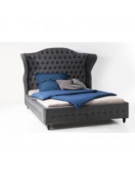 Bett grau gepolstert Barock, Bett Barock grau, Maße 200 x 200 cm