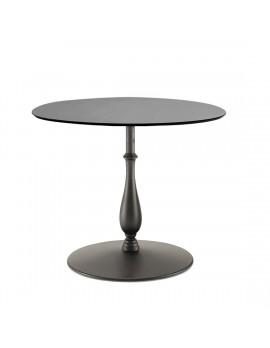 Tisch rund schwarz , Bistrotisch rund schwarz,  Durchmesser 80-150 cm