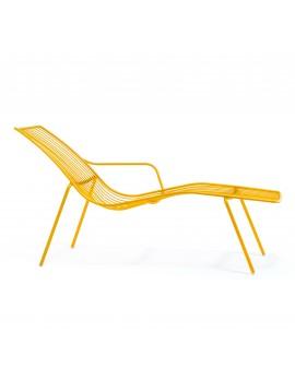 Gartenliege gelb Metall, Lounge - Liege gelb, Metall Liege gelb