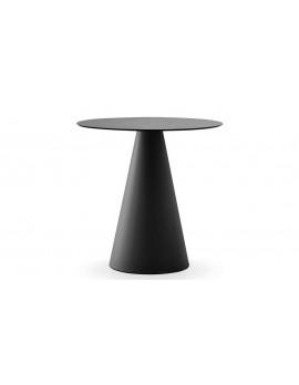 Tisch rund schwarz , Esstisch rund schwarz, Durchmesser 69 cm