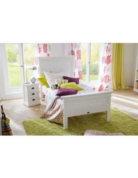 Einzelbett im Landhausstil weiß, Breite 114 cm