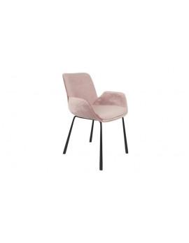 Stuhl pink gepolstert, Stuhl mit Armlehne pink