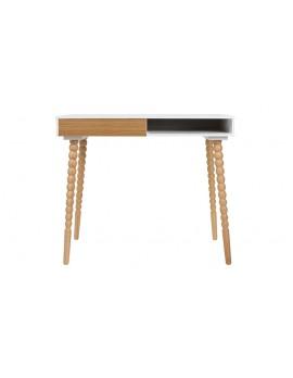Schreibtisch Holz glänzend, Schreibtisch Breite 90 cm