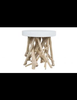Beistelltisch Holz,Beistelltisch weiß glänzend, Beistelltisch