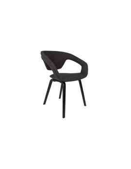 Stuhl dunkel grau gepolstert, Stuhl mit Armlehne dunkel grau