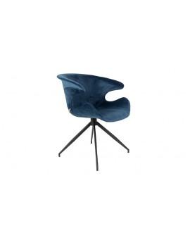 Stuhl petrol/blau gepolstert, Stuhl mit Armlehne petrol/blau