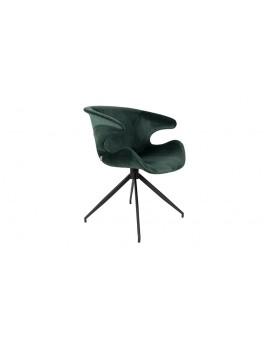 Stuhl tannengrün gepolstert, Stuhl mit Armlehne tannengrün