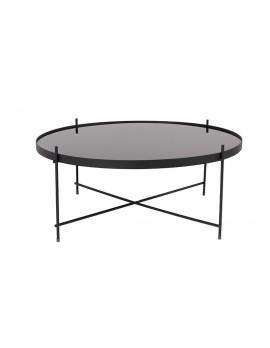Beistelltisch schwarz ,Beistelltisch Metall mit Glas ,Runder Beistelltisch, Beistelltisch XXL