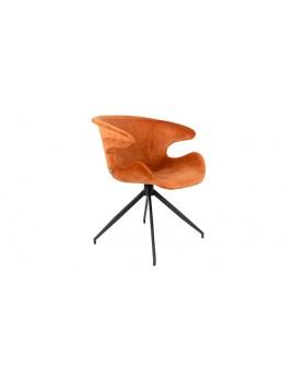 Stuhl orange gepolstert, Stuhl mit Armlehne orange