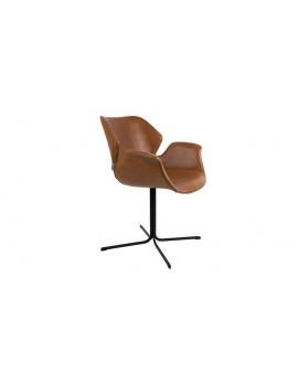 Stuhl schwarz, braun Stuhl mit Armlehne schwarz, braun