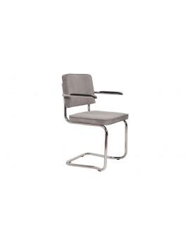 Stuhl gepolstert hell grau,Stuhl mit Armlehne hell grau