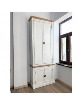 Bücherschrank weiß Landhaus, Schrank weiß, Aktenschrank weiß Landhausstil,  Breite 100 cm