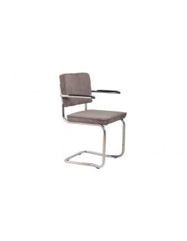 Stuhl gepolstert grau,Stuhl mit Armlehne grau