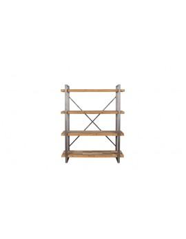 Regal Holz Metall-Gestell, Bücherregal Landhaus, Breite 120  cm