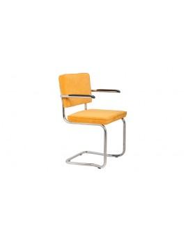 Stuhl gepolstert gelb,Stuhl mit Armlehne gelb