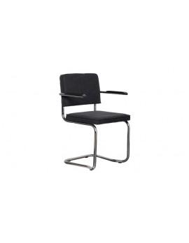 Stuhl gepolstert vintage schwarz,Stuhl mit Armlehne vintage schwarz
