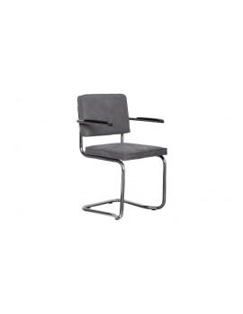 Stuhl gepolstert dunkel grau,Stuhl mit Armlehne dunkel grau