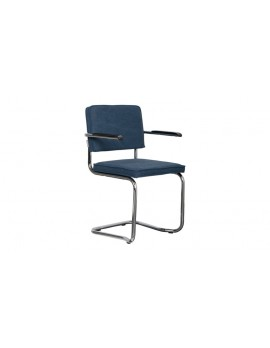 Stuhl gepolstert dunkel blau,Stuhl mit Armlehne dunkel blau
