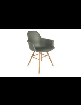 Stuhl grün, Stuhl mit Armlehne grün