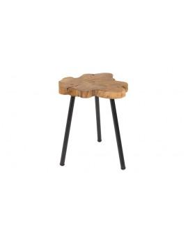 Holz Beistelltisch ,unverarbeitet Beistelltisch