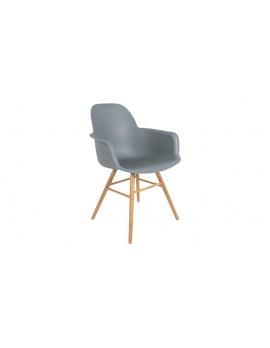 Stuhl grau, Stuhl mit Armlehne grau