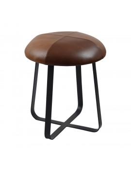 Hocker braun schwarz Industriedesign, Hocker Metall Industrie schwarz, Sitzhöhe 49 cm