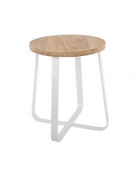 Hocker weiß Industriedesign, Hocker Metall Industrie weiß, Sitzhöhe 43 cm