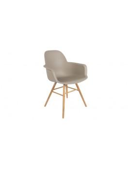 Stuhl taupe, Stuhl mit Armlehne taupe