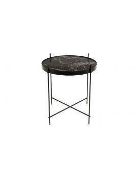 Beistelltisch Marmor schwarz ,Beistelltisch Metall mit Glas ,Runder Beistelltisch