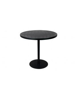Tisch rund schwarz, Bistrotisch schwarz, Durchmesser 80 cm