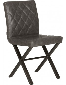 Stuhl grau Industriedesign, Stuhl Industrie grau Metall