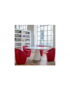 Esstisch rund weiß, Tisch rund, Tisch weiß rund, Durchmesser 150 cm