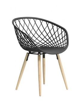 Stuhl schwarz, Stuhl schwarz Stuhlbeinen Holz