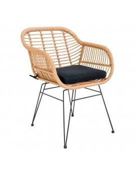 Stuhl mit Armlehne, Stuhl Kunst-Rattan